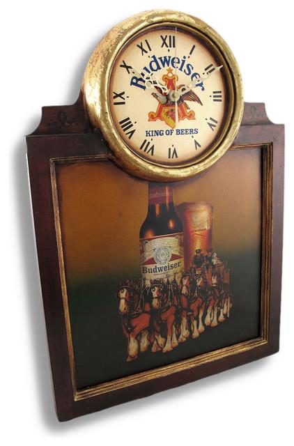 Vintage Framed Budweiser Clydesdale Horse