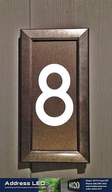 Address LED - illuminated house numbers - House Numbers - seattle - by Address LED