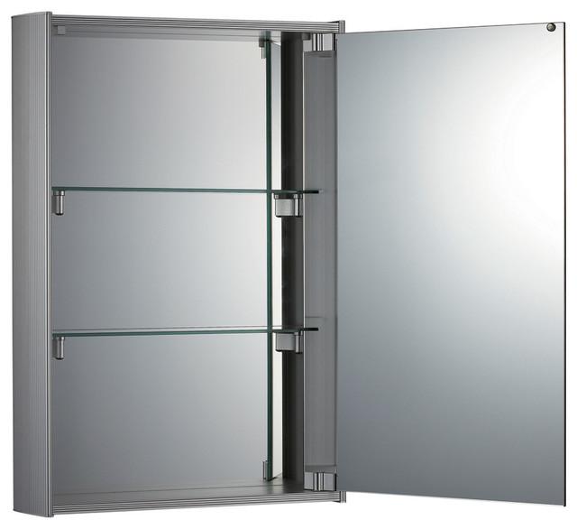 Vertical Double Faced Mirrored Door Medicine Cabinet - Modern - Medicine Cabinets - by Whitehaus ...
