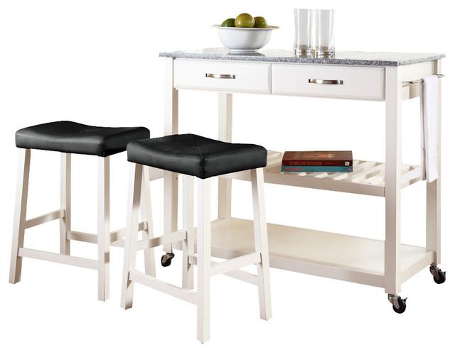 Crosley furniture 42x18 solid granite top kitchen cart for 24 inch kitchen island