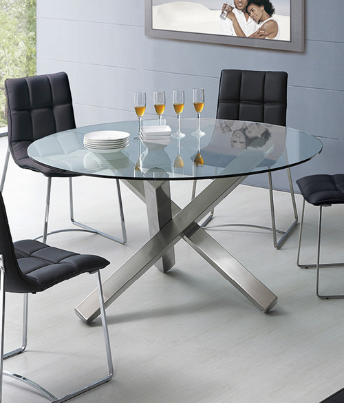 Clear Glass Top Dining Table