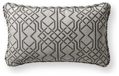 Spotlight Silver Outdoor Lumbar Pillow - Contemporary - Outdoor Cushions And Pillows - by FRONTGATE