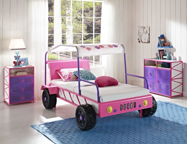 Girls Pink Jeep Buggy Bed Modern Kids Beds Los Angeles By Sister Furniture