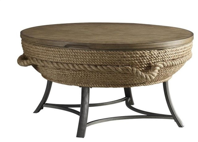 Crescent Key Lift Top Cocktail Table Beach Style Coffee Tables By Chic Art And Accents