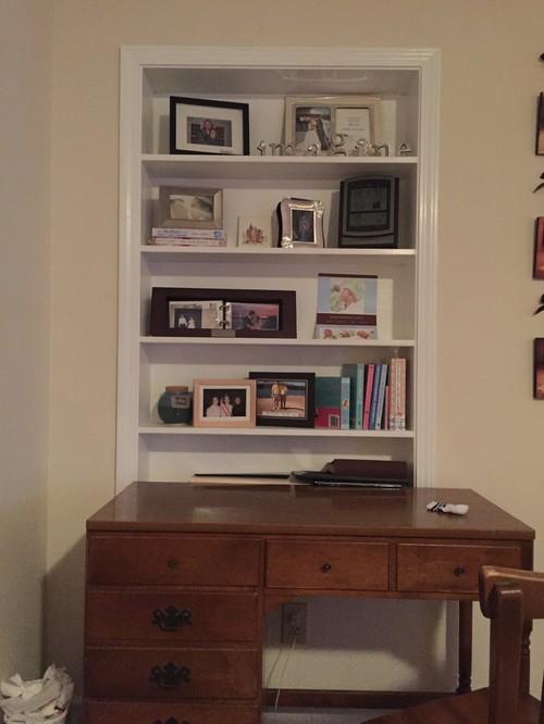 convert bookshelf to desk 3