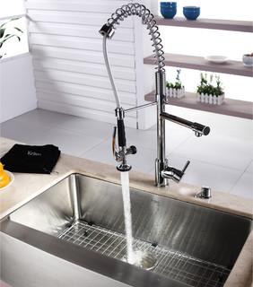 kraus commercial pre rinse chrome kitchen faucet