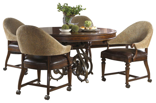 Highlands Round Game Table - Traditional - Dining Tables - by Carolina Rustica