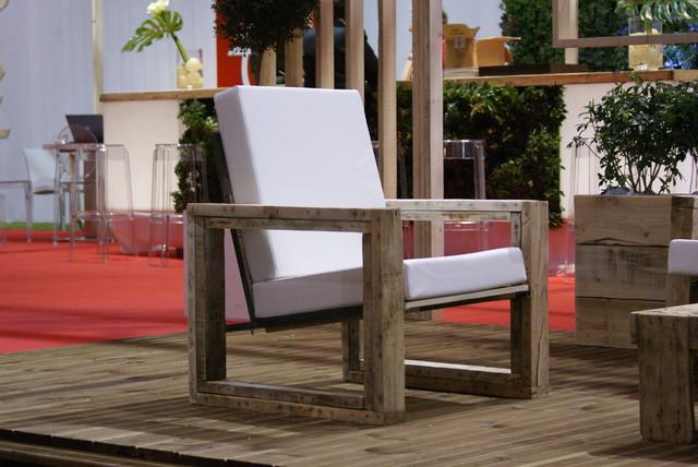 Fauteuil squarlette for Mobilier jardin contemporain