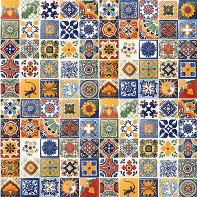 Mediterranean Tiles Kitchen: 100 Handpainted Talavera Mexican Tiles