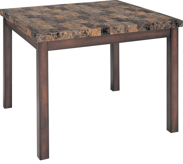 Counter Height Marble Dining Table : ... Counter Height Table with Faux Marble Top traditional-dining-tables