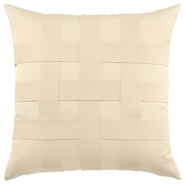 Elaine Smith Basketweave Ivory Pillow - Modern - Garden Cushions - by Elaine Smith