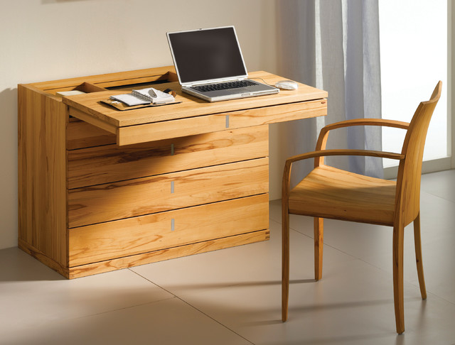 cubus modern beech bureau modern desks writing bureaus london by wharfside. Black Bedroom Furniture Sets. Home Design Ideas