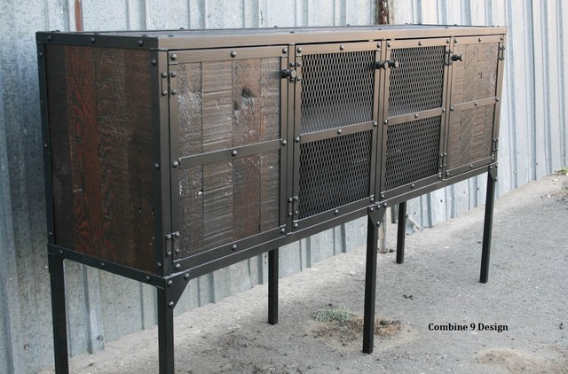 Buffet Sideboard Mid Century Modern Vintage Industrial