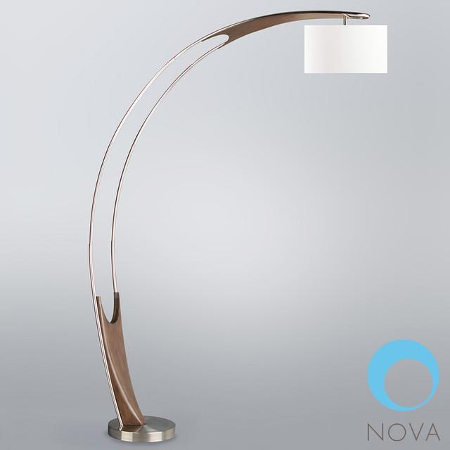 hull arc floor lamp nova modern floor lamps los angeles by. Black Bedroom Furniture Sets. Home Design Ideas