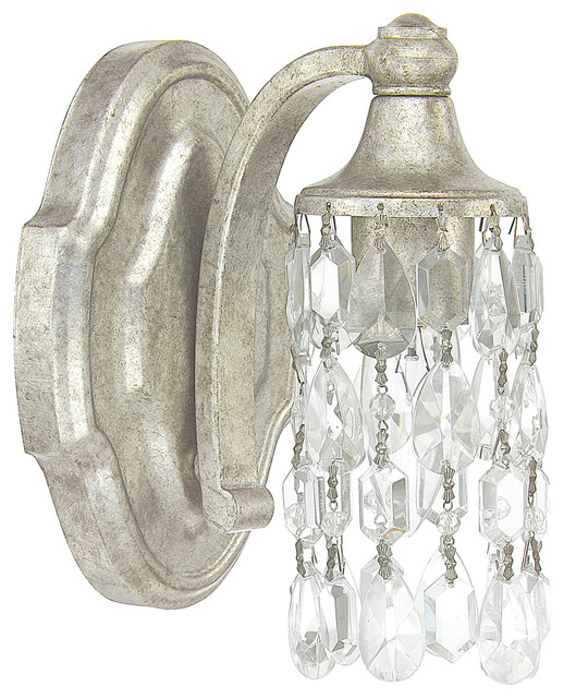 Blakely 1 Light Sconce Antique Silver Victorian Bathroom Vanity Lighting By Capital