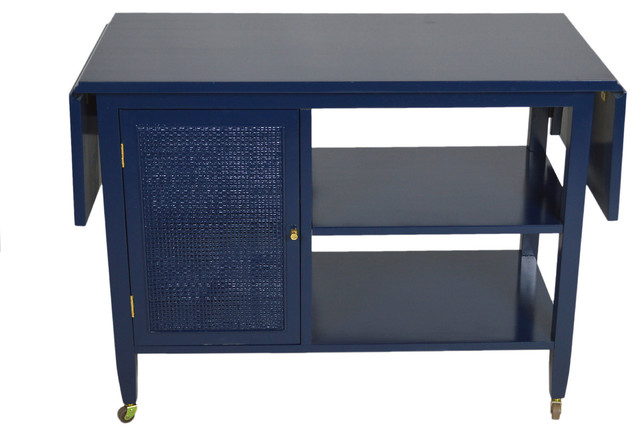 Midcentury Navy Flip-Top Server - Contemporary - Console Tables - by One Kings Lane