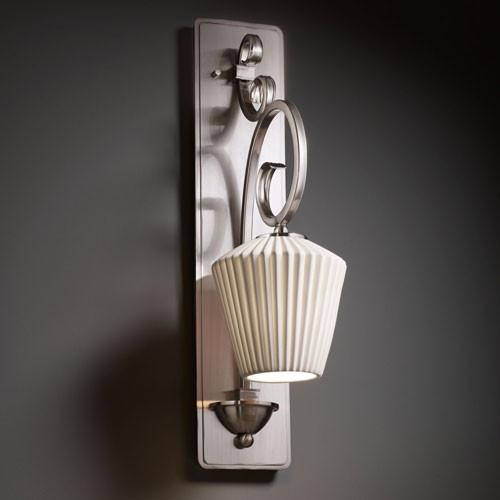 Limoges Victoria Brushed Nickel Tall Wall Sconce modern-bathroom-vanity-lighting