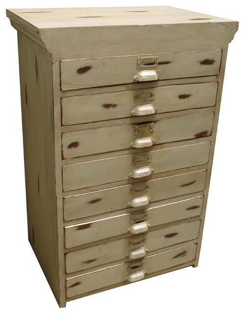 Eight Drawer Plan Chest - Rustic - Filing Cabinets - south east - by Vincent and Barn