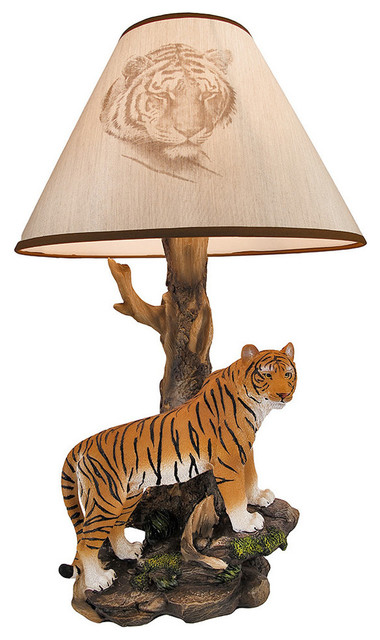 Quot Tigris Light Quot Bengal Tiger Table Lamp Eclectic Table