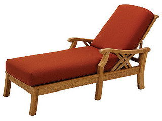 Halifax Chaise With Cushions Spice Patio Furniture Contemporary Garden Lounge Furniture