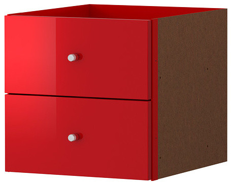 Expedit Insert With 2 Drawers High Gloss Red Modern Accent Chests And Ca