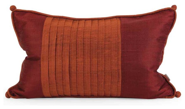 Traditional Thai Pillow : IK Nodia Thai Silk Pillow with Down Fill - Traditional - Scatter Cushions