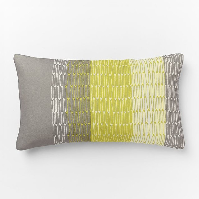 Outdoor Links Stripe Pillow - Contemporary - Decorative Pillows - by West Elm