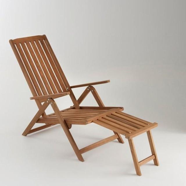 Chaise longue de jardin 5 positions acacia modern - La chaise longue saint lazare ...