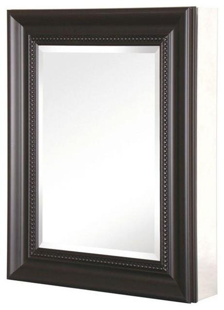 Recessed Or Surface Mount Mirrored Medicine Cabinet Espresso 20 X26 Qu