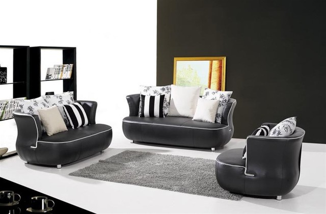 Martino Leather Sofa Set S292A Modern Living Room Furniture Sets By Def
