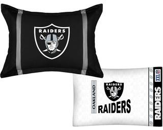 NFL Oakland Raiders MVP Pillow Sham Pillowcase Set - Contemporary ...