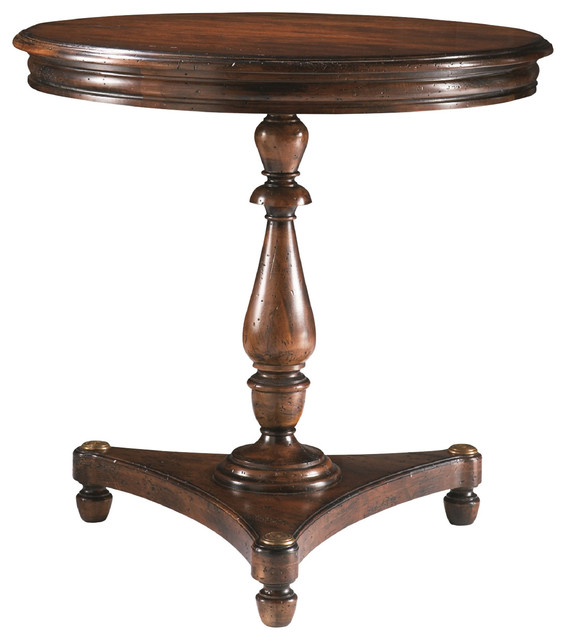 Sherrill Occasional Round Lamp Table 485 930 Traditional  : traditional side tables and end tables from www.houzz.com size 566 x 640 jpeg 53kB
