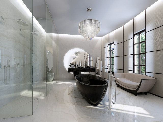 Extrimelly luxury manhattan townhouse contemporary for Townhouse bathroom designs