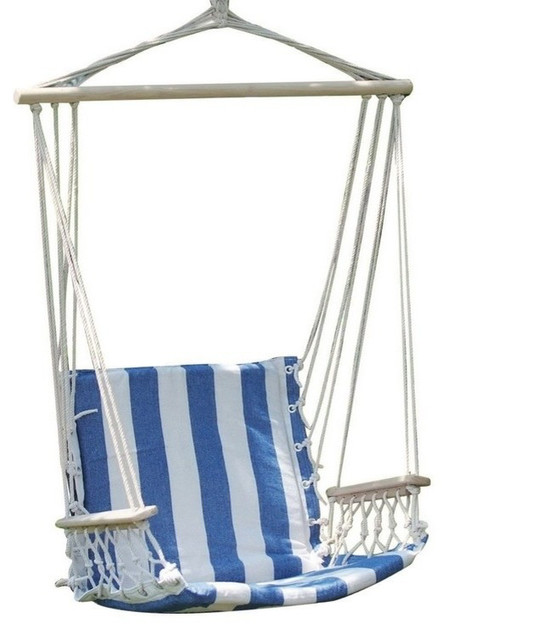 Striped outdoor hammock chair green tropical hammocks and swing chairs by adeco trading - Choosing a hammock chair for your backyard ...