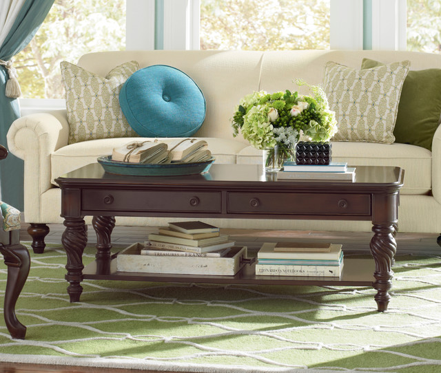 Moultrie Park Rectangular Cocktail Table By Bassett Furniture Contemporary Coffee Tables