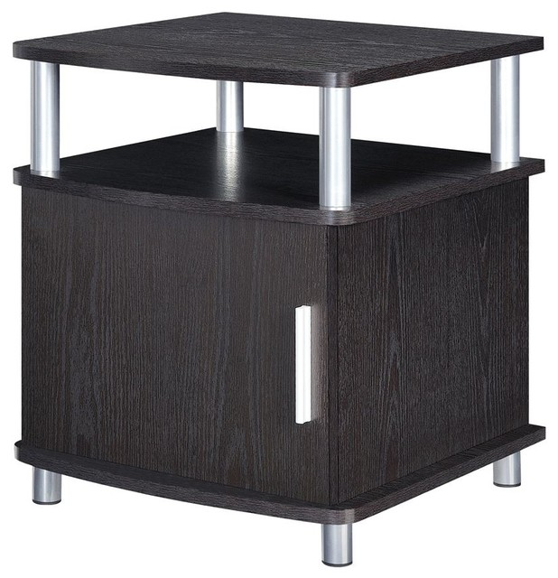 Carson End Table With Storage In Espresso Contemporary Side Tables And End Tables By