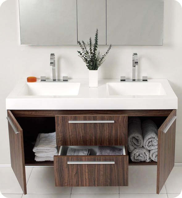 Floating Sink Vanity : Floating Bathroom Vanities - Contemporary - Bathroom Vanities And Sink ...