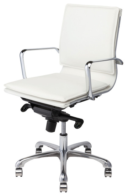 carlo office chair in white by nuevo hgjl311 moderne. Black Bedroom Furniture Sets. Home Design Ideas