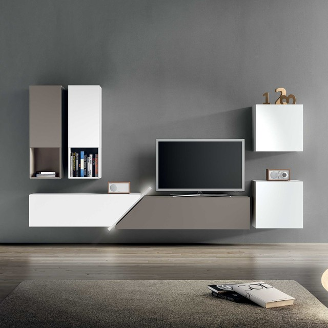 Modern Bespoke Italian Wall TV Unit By Santarossa