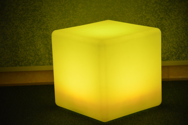 Led Cube Chair Modern Footstools And Ottomans Hong
