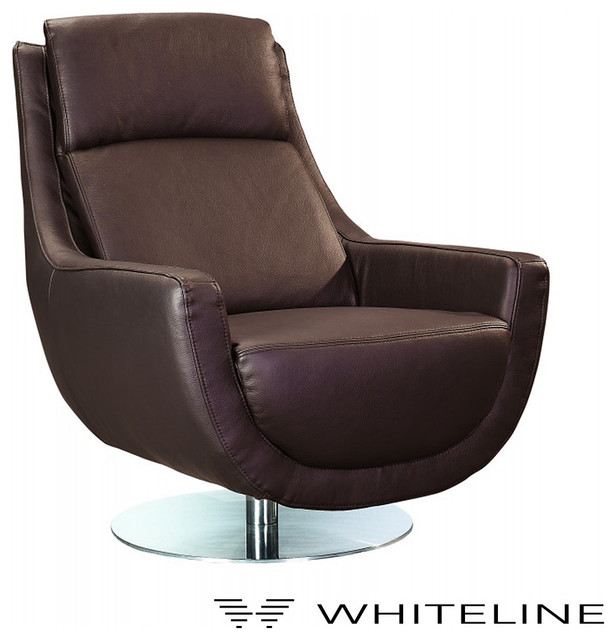Whiteline germany swivel chair modern armchairs and for Modern swivel accent chair