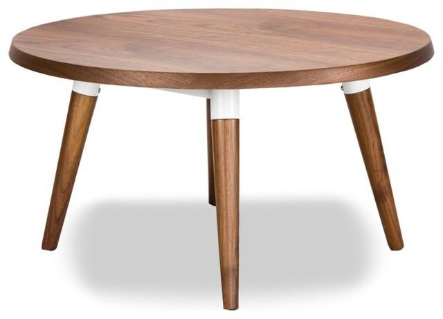 Couchtisch Copine Rund Walnuss  Modern  Coffee Tables  -> Couchtisch Rund Teak