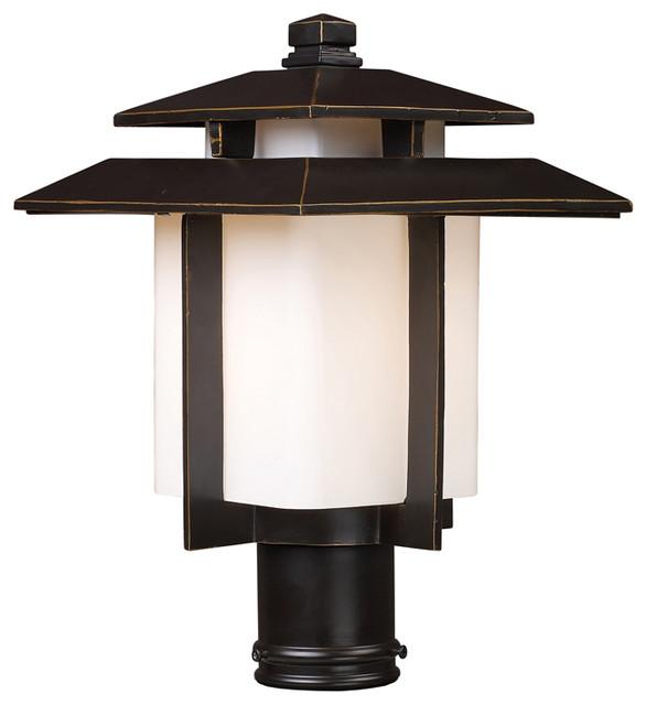 Elk lighting 42173 1 kanso 1 light outdoor pier mount in for Contemporary outdoor post light fixtures