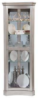 Platinum Concave Corner Curio Contemporary Display And