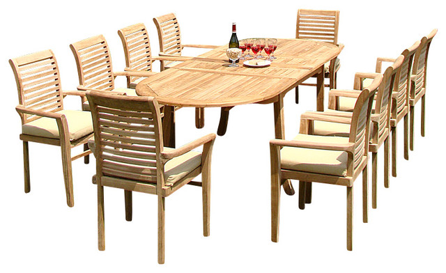 13 piece dining set 117 double oval table and 12 mas