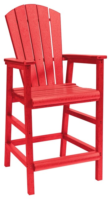 C R Plastics Pub Chair In Red Contemporary Outdoor Lounge Chairs By Be