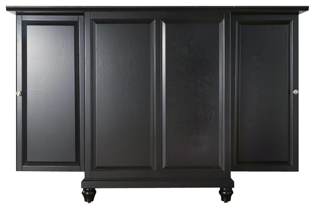 Crosley Furniture Cambridge Expandable Bar Cabinet - Transitional - Wine And Bar Cabinets - by Cymax