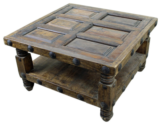 Old World Square Mesquite Coffee Table Rustic Coffee Tables