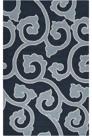 Mezzo navy and teal area rug traditional area rugs for Navy and teal rug