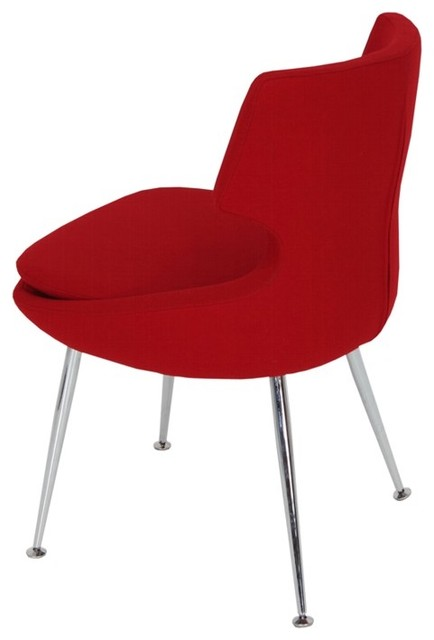 Design1008567 Dining Chair Red Lowe Red Leather Dining Chair